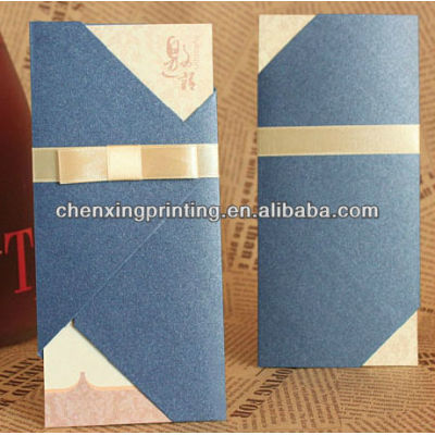 Eco-friendly Folding Wedding Invitation Card with Factory Price