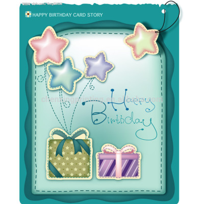 A4 Handmade Flower Birthday Greeting Cards with Wholesale Price
