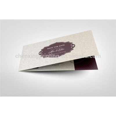 Folded Custom Paper Print Card for Wedding Invitation Wholesale Cheap Price