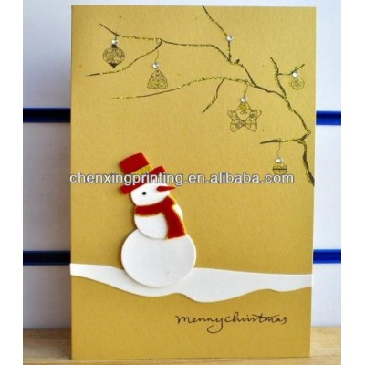 Bespoke Delicate Xmas New Year Greeting Card with Wholesale Price