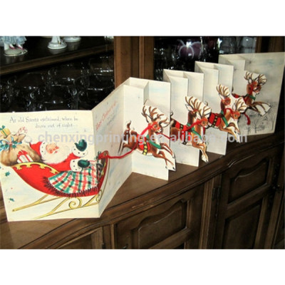 Special Decoration Handmade 3D Pop Up Christmas Card Accept Customize