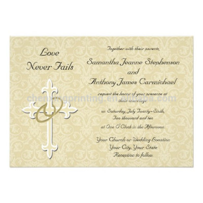 Folded Custom Paper Print Christian Wedding Cards Design Wholesale Cheap Price