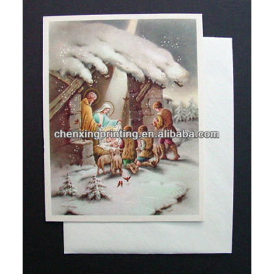 Eco-Friendly Customized OEM Fancy Christmas Greeting Card for Lover