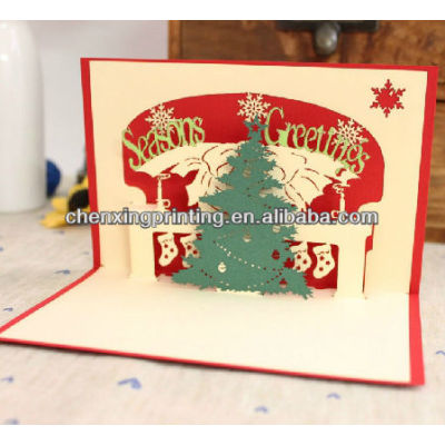 DIY Handmade Folded Paper 3D Christmas Tree Cards