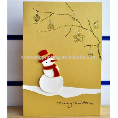 2014 Handmade Snowman Christmas Cards for Gift