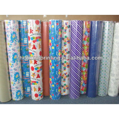 custom logo gift wrapping paper manufacturer