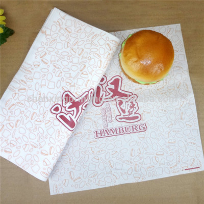 Custom Printed Burger Paper Wrapping Paper Wholesale