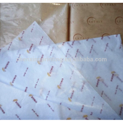 Custom Printed Greaseproof Food Hamburger Wrapping Paper Wholesale Manufacturer
