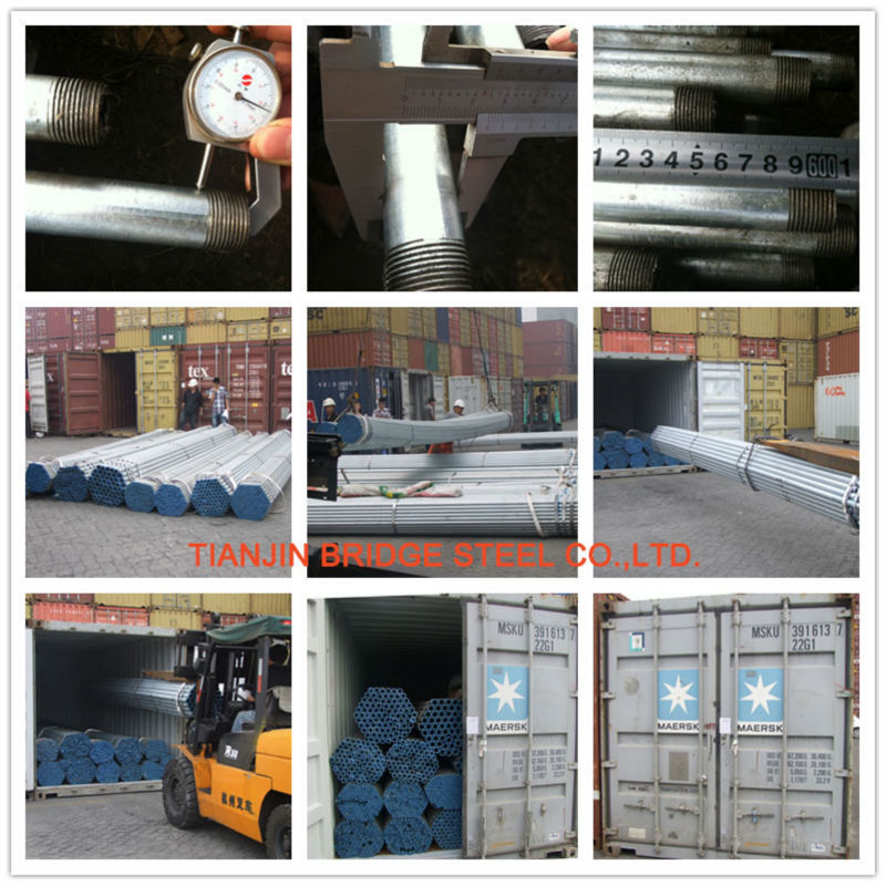 china manufacture carbon bs1387 hot dip galvanized steel pipe