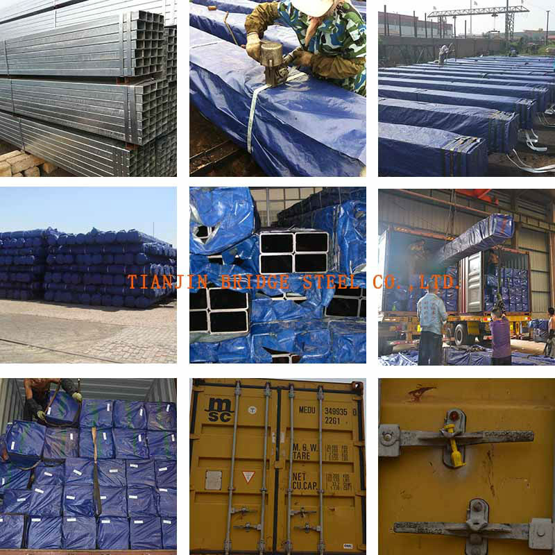 galvanized square pipe for buildings and construction