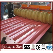 zinc color coated 0.4mm corrugated steel roofing sheets materials price for construction wave steel roofing or wall tile