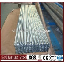 Zinc coated corrugated roofing plate steel material 914 mm gi galvanized wall steel sheet
