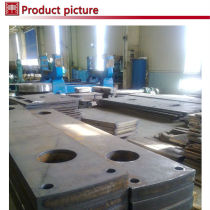 machine cut steel plate