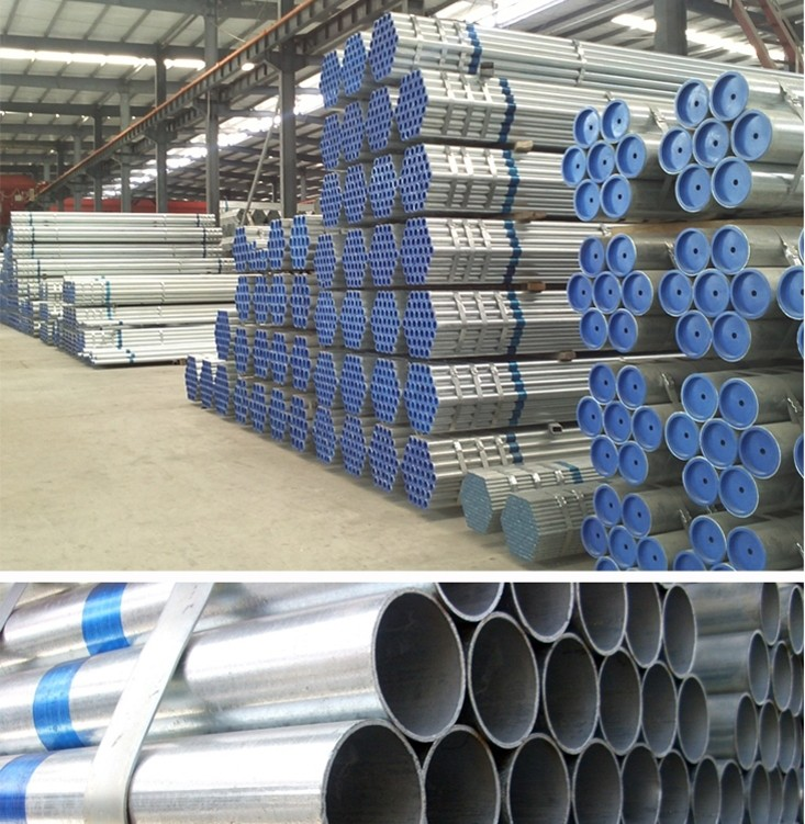 cold galvanized water pipe