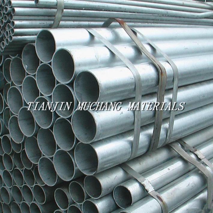 welded hot dipped galvanized steel pipe/tube ASTM BS DIN JIS GB