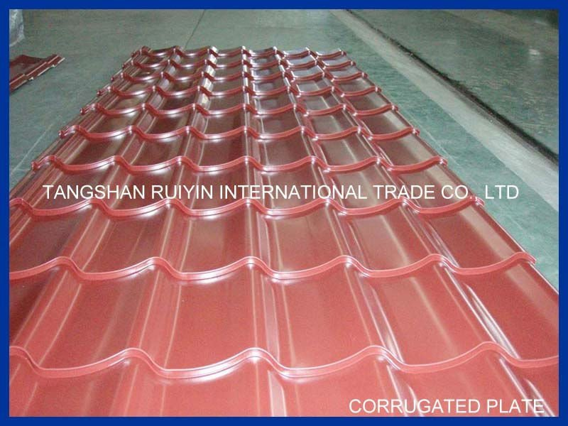 Galvanized Aluminium Corrugated Steel Roofing Sheet RAL 9002