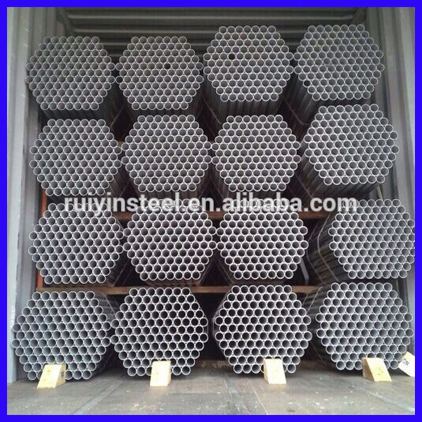 carbon welded steel pipe with galvanized Caps and thread each side stock tube galvanized