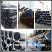 Seamless steel pipe ASTM A53, A106B standard size specification China PVC pack Cap