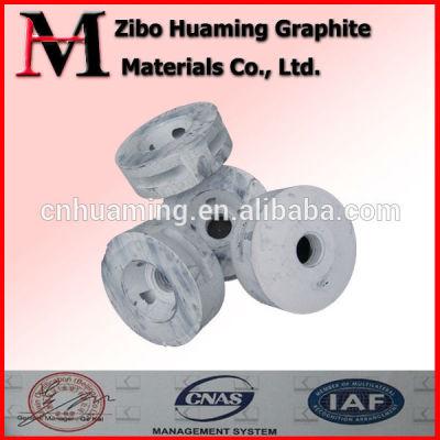 Degassing graphite rotor for aluminum die cast
