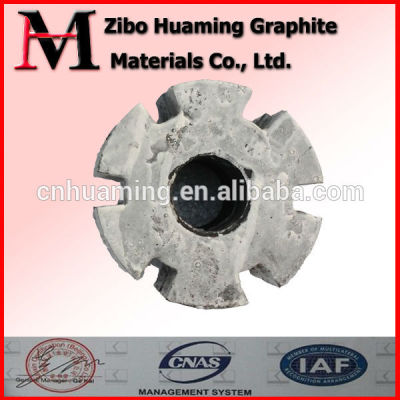 graphite rotor, graphite impeller, graphite rotator for aluminium melting