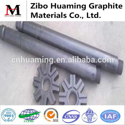 graphite rotor and shaft for degassing