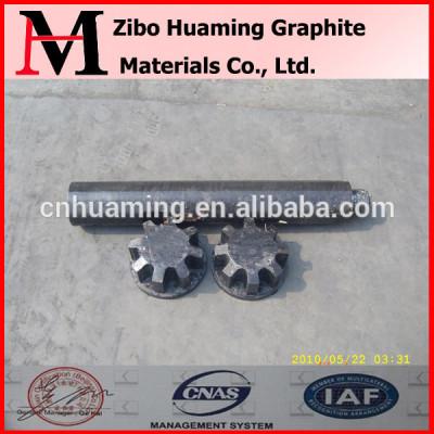 Degassing graphite rotor for aluminum die casting