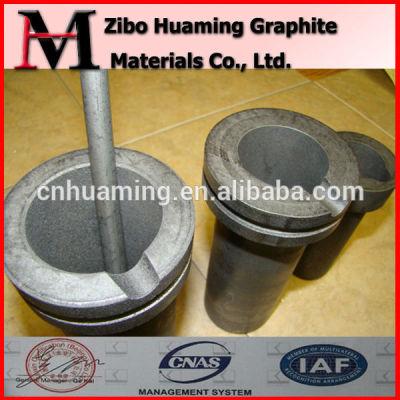 graphite crucible for melting metal
