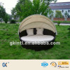 Leisure Rattan Wicker Daybed With Canopy