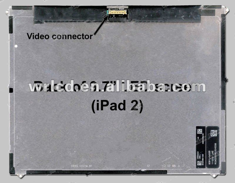 9.7'' 1024*768 FOR IPAD1 LP097X02(SL)(Q1) IPAD 2 9.7'' Screen display Original NEW A+