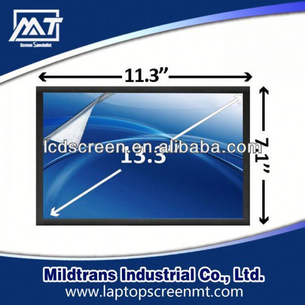 100% original Replacement Laptop lcd led screen CLAA133UA01 laptop screen privacy filter