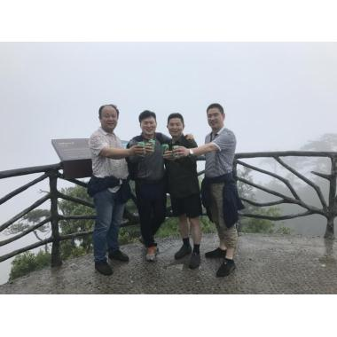 We Climb the Da Ming Mountain together with Korean customer