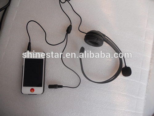 DC headset with MIC DC 3.5/2.5mm for mobile phone / tablet PC
