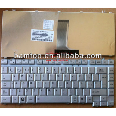 SP keyboard for Toshiba A200 Silver SP laptop keyboard spanish