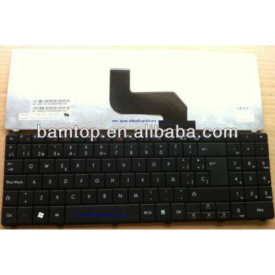 Laptop Spanish keyboard for Gateway NV52 NV53