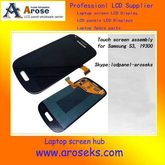 Hot selling mobile phone spare parts for samsung galaxy s3 lcd screen display