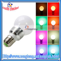 Hot Selling High Quality E27 3W 300LM 6000K Low Voltage LED RGB Bulb Light