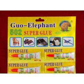 blister card super glue 1.5g to 3g .4pcs /card cyanoacrylate adhesive 502 manufacutre