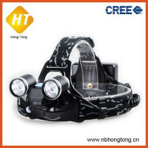 new model 2 in 1 rechargeable 2 cree q5 led headlamp (HT-BL029)