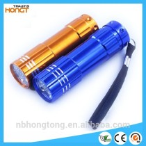 Cheapest aluminum 9 led mini flashlight (HT-LF9)