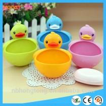 Fancy Colrful duck design plastic rectangle soap box