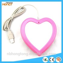 Heart -shaped USB Hubs Coffee Cup warmer Tea Heater