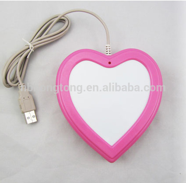 2014 heart -shaped USB Hubs Coffee Cup warmer Tea Heater