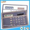 8 digits solar energy pocket calculator business card calculator