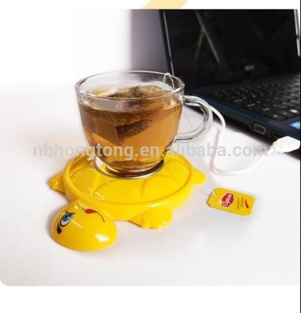2014 turtle-shapedUSB Hubs Coffee Cup warmer Tea Heater