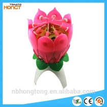 1 Layer Flower Shaped Music Fireworks Birthday Candle