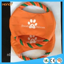 PETS TOY Dia. 20cm canvas and cotton frisbee flying disc for pets