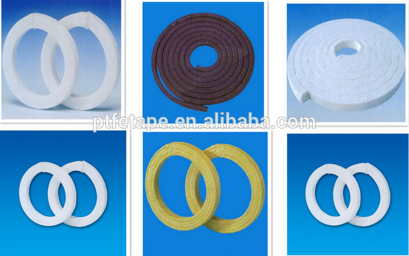 PTFE Teflon Gland Packing with oil and wihout oil