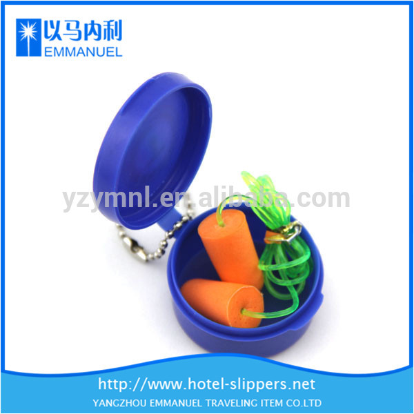 Circle plastic boxed reusable ear plugs for sleeping