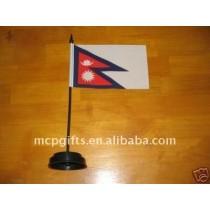Promotional polyester desk flag
