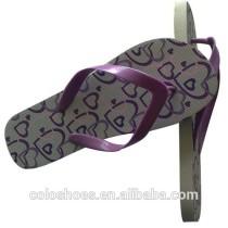 Unisex flip flop slipper with sunflower print
